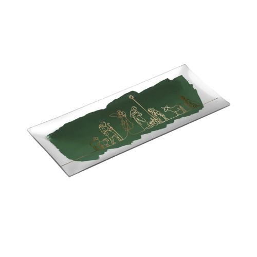 Talerz 21cm | wzór 002 | platin